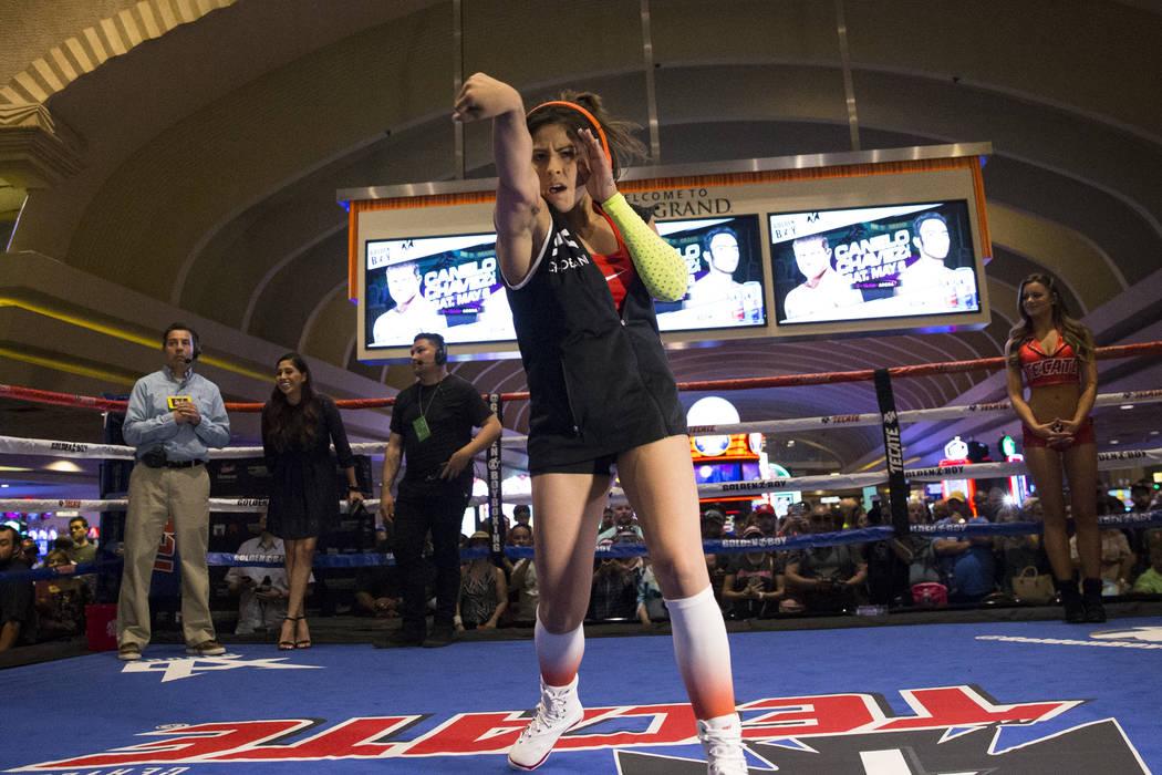 Marlen Esparza during a public boxing workout at MGM Grand on Wednesday, May 3, 2017, in Las Vegas. Erik Verduzco Las Vegas Review-Journal @Erik_Verduzco