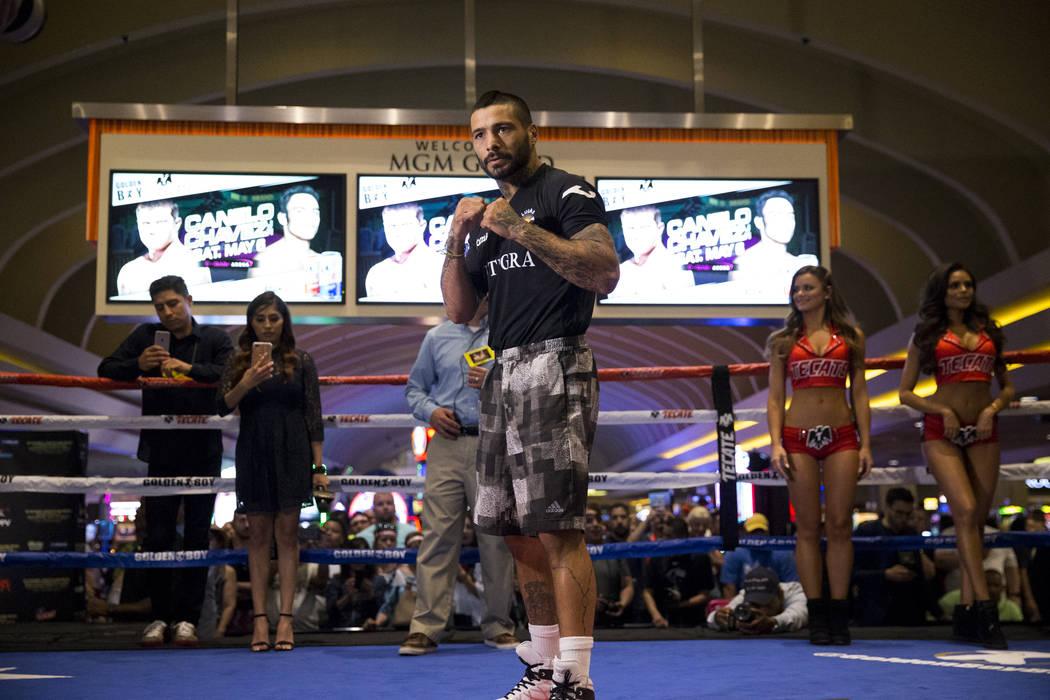 Lucas Matthysse during a public boxing workout at MGM Grand on Wednesday, May 3, 2017, in Las Vegas. Erik Verduzco Las Vegas Review-Journal @Erik_Verduzco