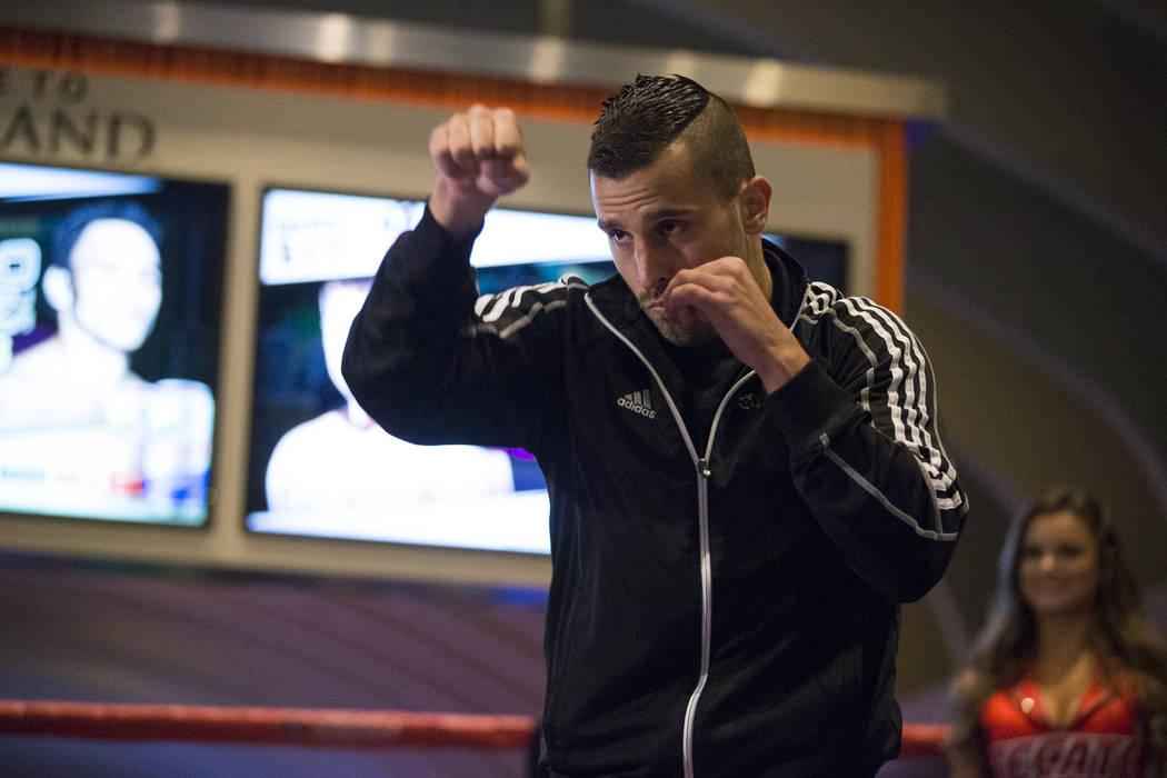 David Lemieux during a public boxing workout at MGM Grand on Wednesday, May 3, 2017, in Las Vegas. Erik Verduzco Las Vegas Review-Journal @Erik_Verduzco
