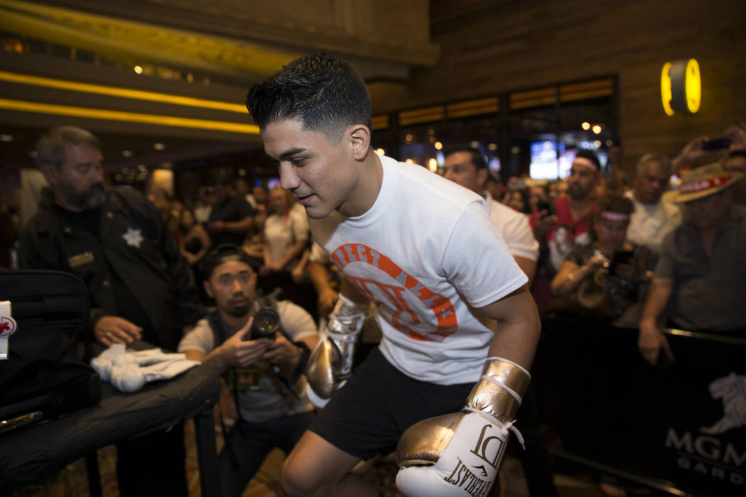 Joseph Diaz Jr. during a public boxing workout at MGM Grand on Wednesday, May 3, 2017, in Las Vegas. Erik Verduzco Las Vegas Review-Journal @Erik_Verduzco