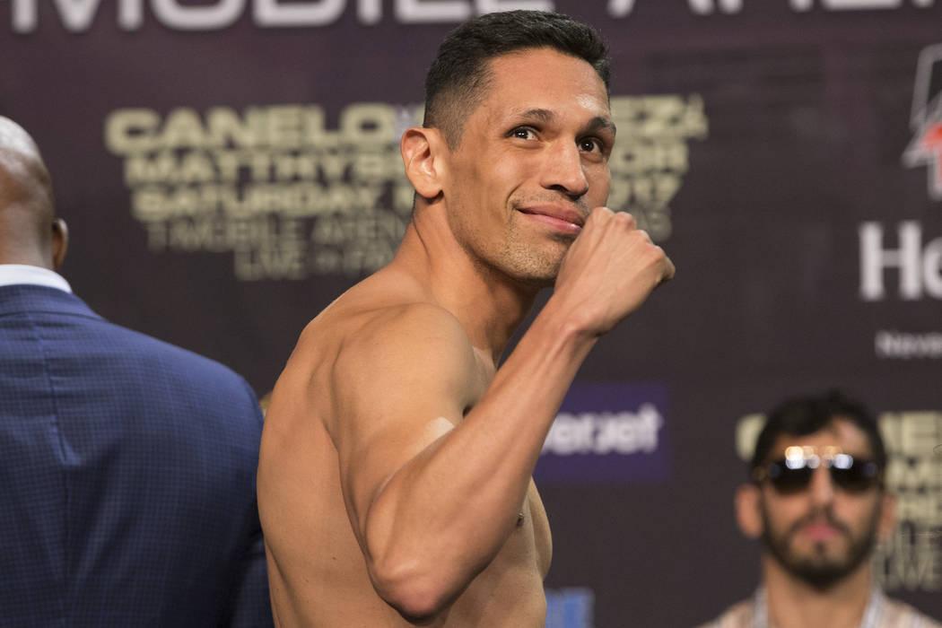 Marco Reyes during the official weigh-in at MGM Grand Garden Arena on Friday, May 5, 2017, in Las Vegas. Erik Verduzco Las Vegas Review-Journal @Erik_Verduzco