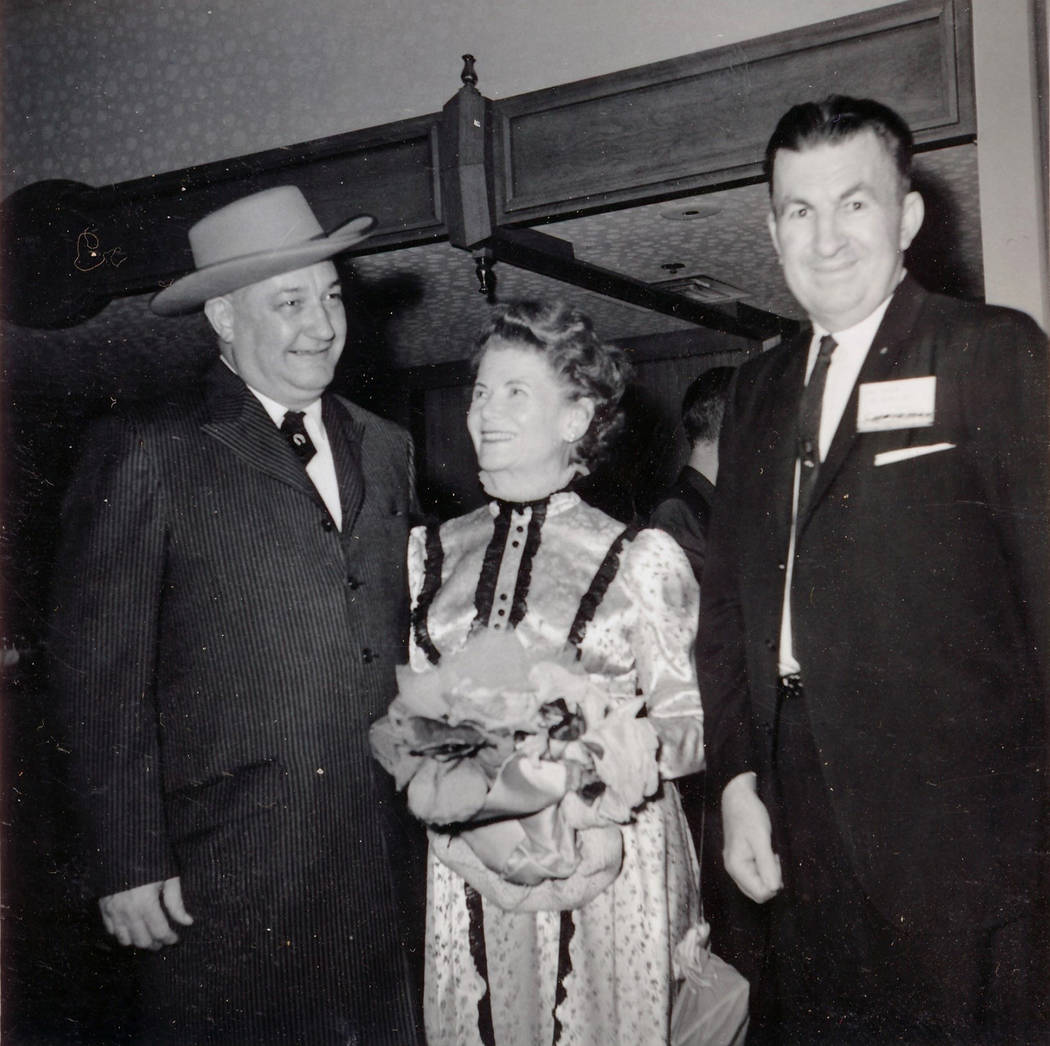 Sam Boyd, Director of the U.S. Mint, Eva Adams and Carl Taylor at the first The Las Vegas Numismatic Society Coin Show in 1963. (Special to View)