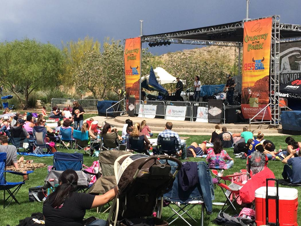 Get picnic baskets, chairs and blankets ready for a day of great country music at Country in the Park on May 13 at Exploration Park at Mountain's Edge.