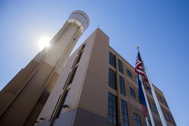 The new McCarran International Airport FAA Tower is seen on Monday, Oct. 17, 2016. Jeff Scheid/Las Vegas Review-Journal Follow @jeffscheid