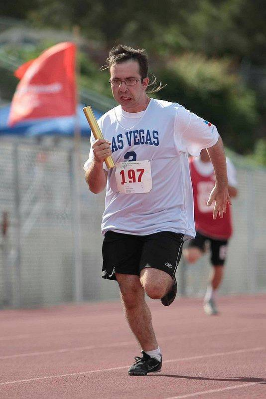 Matthew Migliore participates on the Special Olympics Nevada track and field team. (Courtesy Facebook)