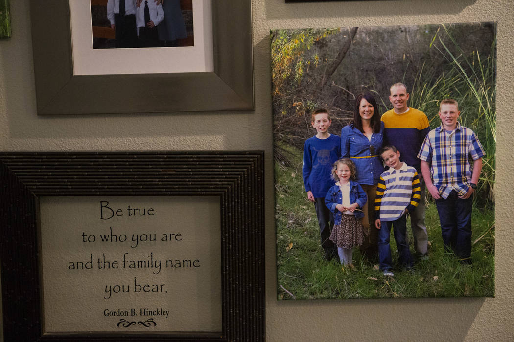 A photo of the Raban Family, shown at their home in Logandale on Wednesday, May 3, 2017. Chase Stevens Las Vegas Review-Journal @csstevensphoto