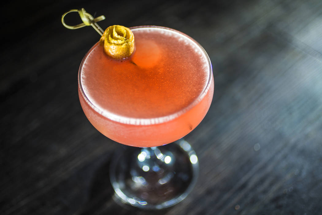 The Rosie, with Bombay gin, Lillet Blanc, Framboise and grapefruit juice at Other Mama on Thursday, April 27, 2017, in Las Vegas. Benjamin Hager Las Vegas Review-Journal @benjaminhphoto