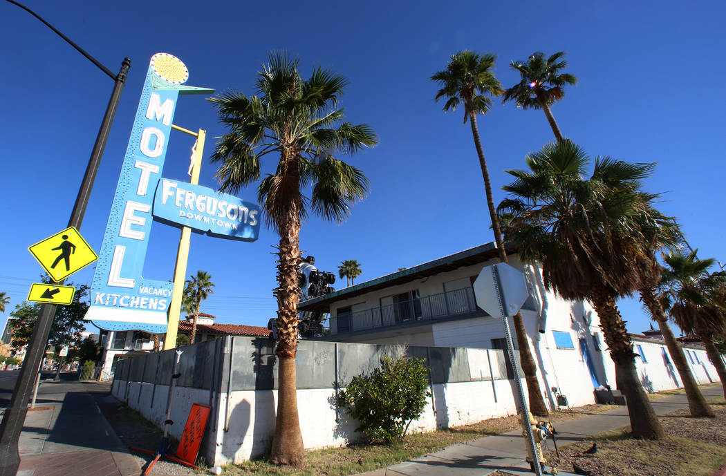 The Fergusons Motel on 1028 Fremont St., on Friday, May 5, 2017, in Las Vegas. (Bizuayehu Tesfaye/Las Vegas Review-Journal) @bizutesfaye