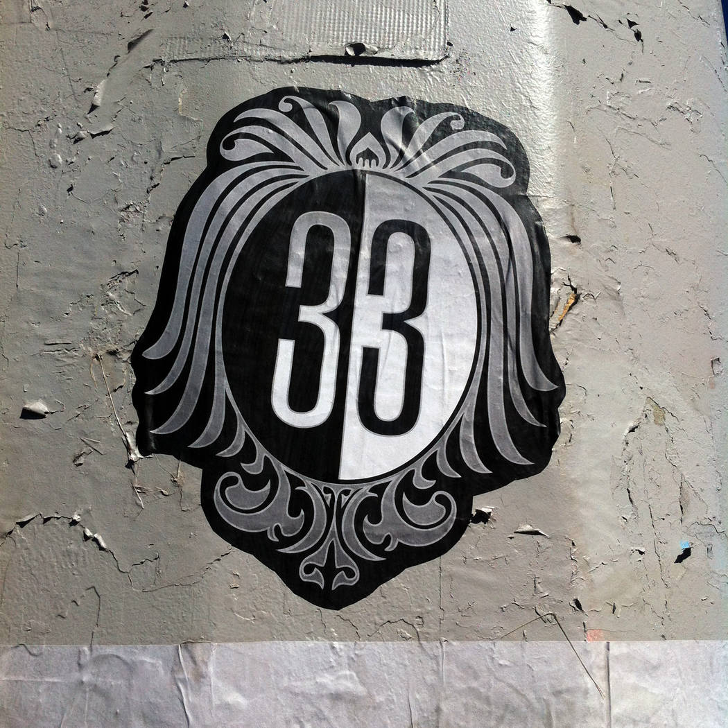 The logo for the four-member Cult 33 collective, featured artists at May's First Friday happening downtown. First Friday Foundation