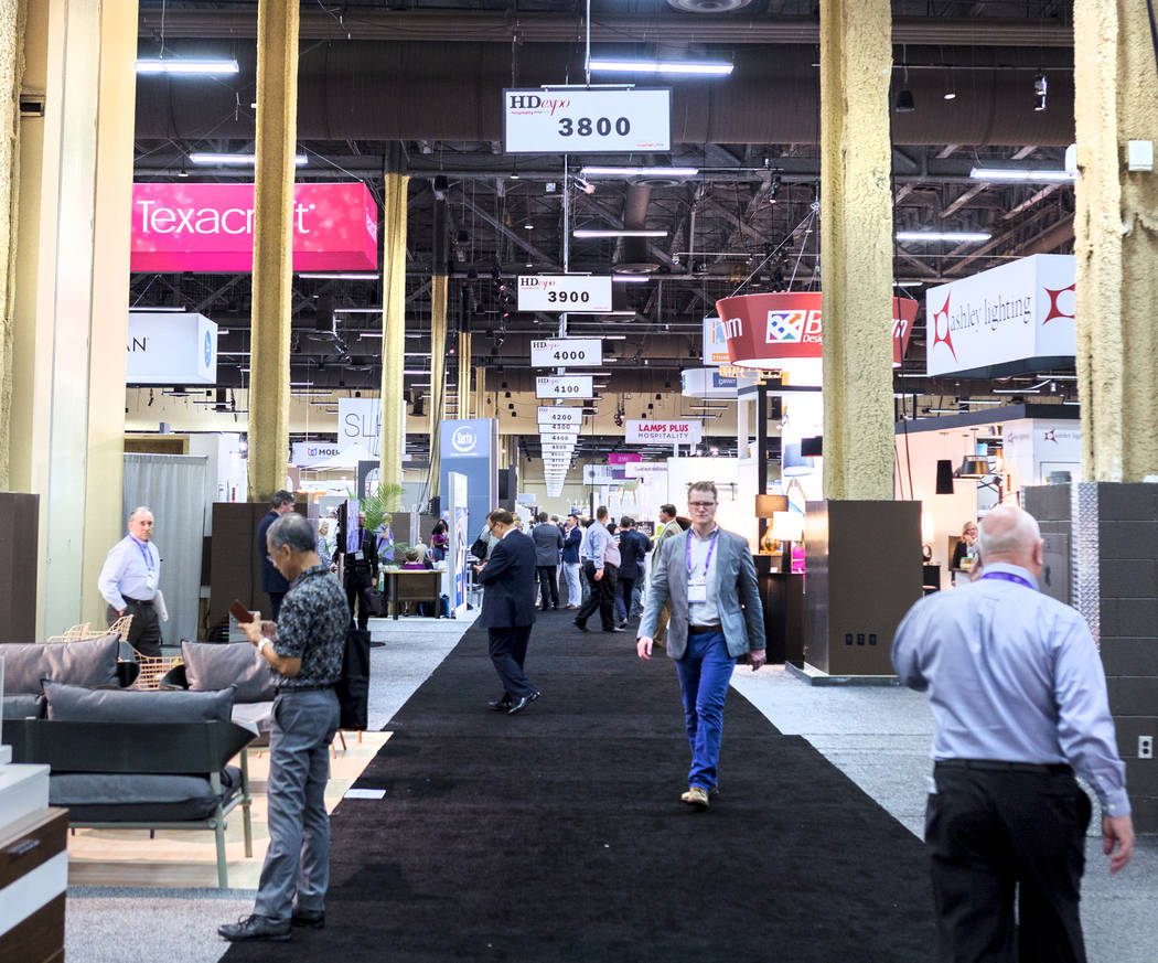The Hospitality Design Exposition and Conference is underway at the Mandalay Bay Convention Center in Las Vegas, Wednesday, May 3, 2017. Elizabeth Brumley Las Vegas Review-Journal @EliPagePhoto