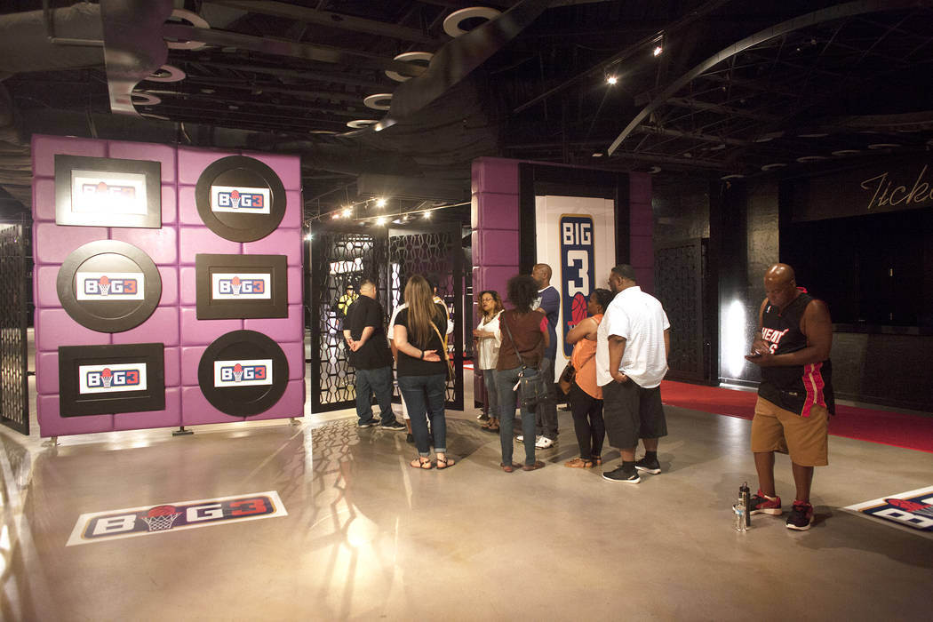 A crowd waits to enter the BIG3 inaugural draft on Sunday, April 30, 2017, at Planet Hollywood in Las Vegas. Rachel Aston Las Vegas Review-Journal @rookie__rae