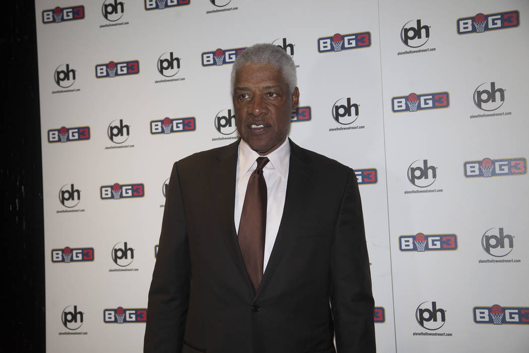 "Julius ""Dr. J"" Erving on the red carpet on Sunday, April 30, 2017, at the BIG3 inaugural draft at Planet Hollywood in Las Vegas. Rachel Aston Las Vegas Review-Journal @rookie__rae"