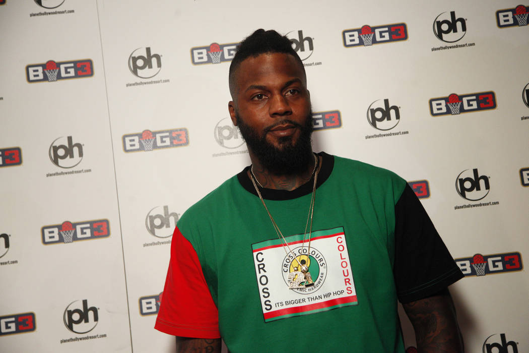 DeShawn Stevenson on the red carpet on Sunday, April 30, 2017, at the BIG3 inaugural draft at Planet Hollywood in Las Vegas. Rachel Aston Las Vegas Review-Journal @rookie__rae
