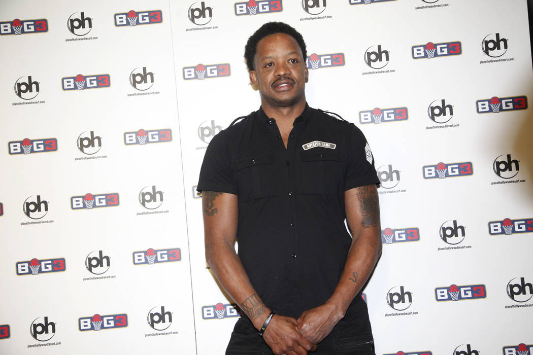 Steve Francis on the red carpet on Sunday, April 30, 2017, at the BIG3 inaugural draft at Planet Hollywood in Las Vegas. Rachel Aston Las Vegas Review-Journal @rookie__rae