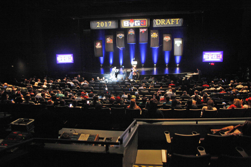 The BIG3 inaugural draft on Sunday, April 30, 2017, at Planet Hollywood in Las Vegas. Rachel Aston Las Vegas Review-Journal @rookie__rae