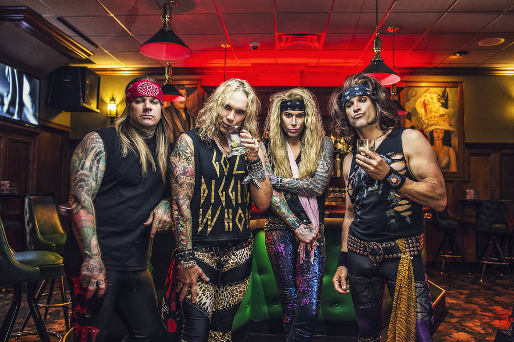 Steel Panther returns to the House of Blues at Mandalay Bay on Thursday. (David Jackson)