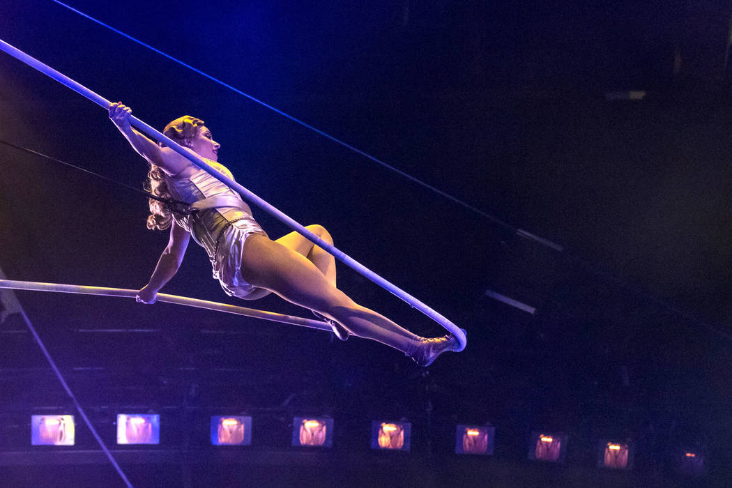 "A dress rehearsal of Cirque du Soleil's ""One Night for One Drop"" production in the Zumanity Theatre at the New York-New York hotel-casino in Las Vegas on Thursday, March 2, 2017. A bill to require ..."