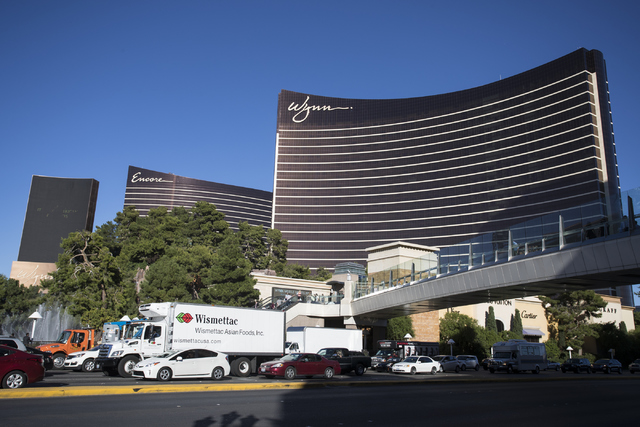 The Encore and Wynn hotel-casinos are shown at the Las Vegas Strip on Wednesday, Nov. 2, 2016. Loren Townsley/Las Vegas Review-Journal @lorentownsley
