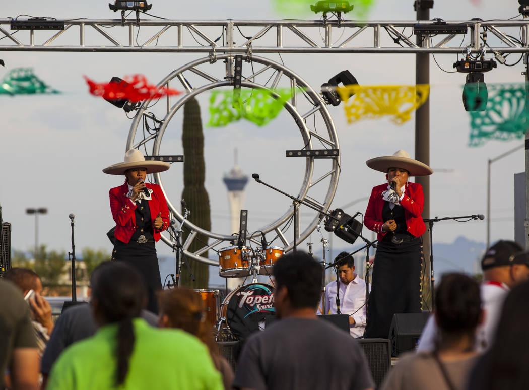 Voces Divinas De Mexico perform during the El Tiempo block party at Texas Station hotel-casino in North Las Vegas on Friday, May 5, 2017. Miranda Alam Las Vegas Review-Journal @miranda_alam