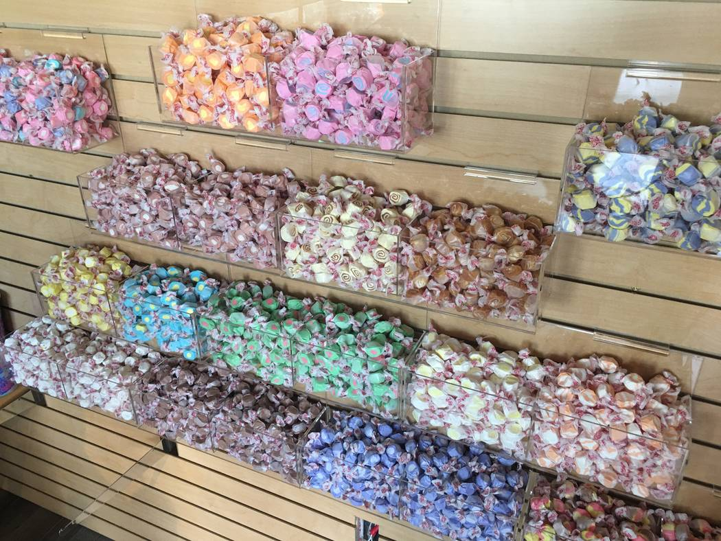 A look at some of the confections at Chumlee's Candy on the Boulevard at Pawn Plaza in Las Vegas on Thursday, April 27, 2017. (John Katsilometes/Las Vegas Review-Journal) @JohnnyKats