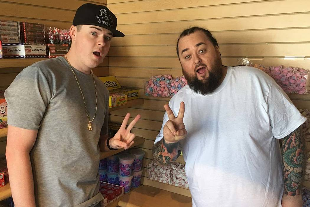 """Brothers Sage and Austin """"Chumlee"""" Russell are shown at Chumlee's Candy on the Boulevard at Pawn Plaza in Las Vegas on Thursday, April 27, 2017. (John Katsilometes/Las Vegas Review-Journal) @Johnn ..."""