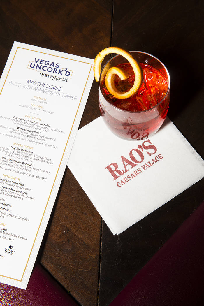 Rao's 10th anniversary dinner at Caesars Palace on Thursday, April 27, 2017, in Las Vegas. (Erik Kabik)