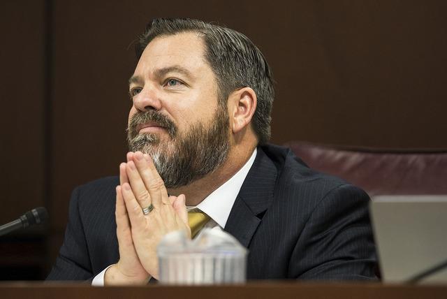 Senate Minority Leader Michael Roberson, R-Nev., seen Feb. 7 (Benjamin Hager/Las Vegas Review-Journal)