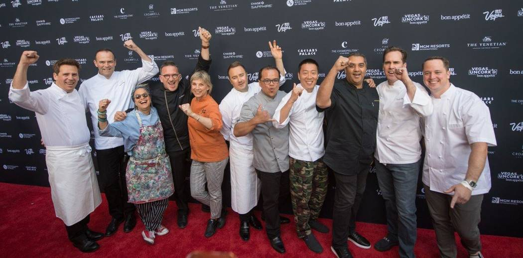 The Grand Tasting at Vegas Uncork'd by Bon Appetit at Garden of the Gods Pool Oasis at Caesars Palace on Friday, April 28, 2017, in Las Vegas. (Tom Donoghue)