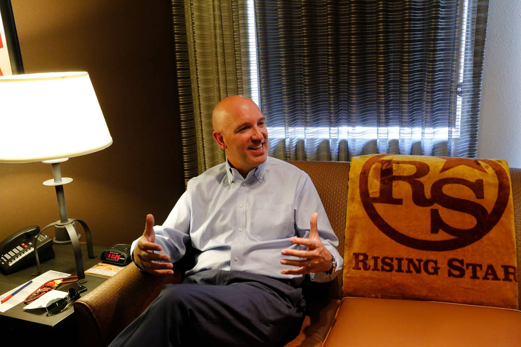 Andre Carrier, chief operating officer  of Rising Star Sports Ranch, speaks to the Review-Journal at the ranch in Mesquite, Nev., Friday, May 5, 2017. Chitose Suzuki Las Vegas Review-Journal @chit ...