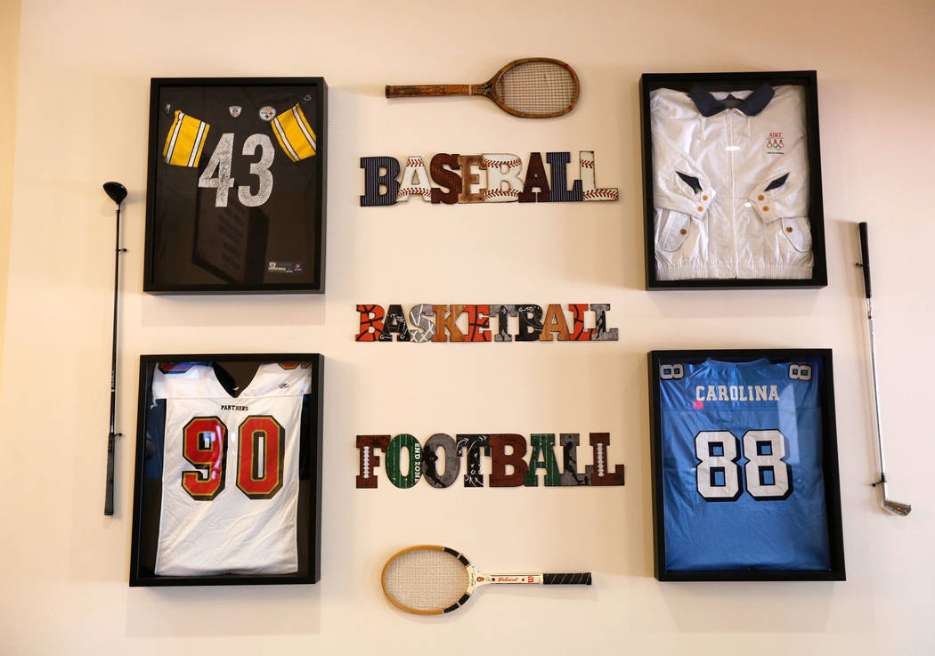 Wall decorations of Rising Star Sports Ranch in Mesquite, Nev., Friday, May 5, 2017. Chitose Suzuki Las Vegas Review-Journal @chitosephoto
