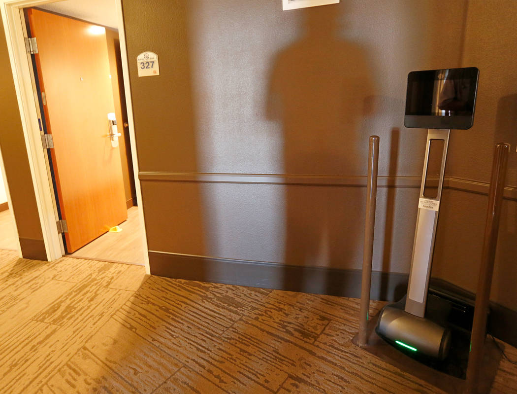 A remote patrol robot at Rising Star Sports Ranch in Mesquite, Nev., Friday, May 5, 2017. Chitose Suzuki Las Vegas Review-Journal @chitosephoto