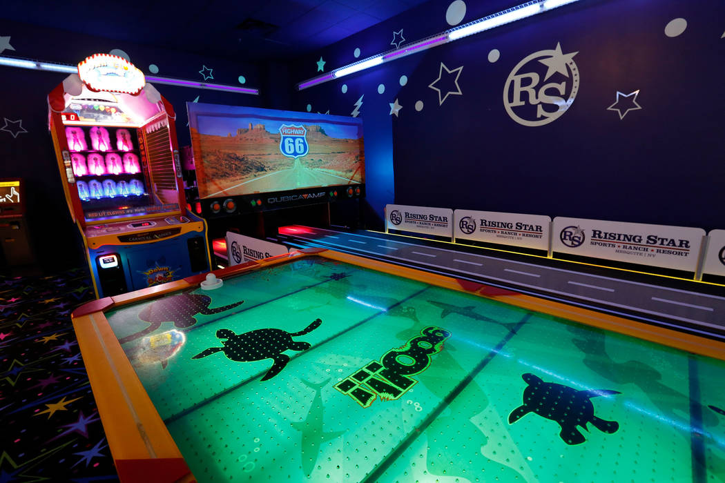 A game room at Rising Star Sports Ranch in Mesquite, Nev., Friday, May 5, 2017. Chitose Suzuki Las Vegas Review-Journal @chitosephoto