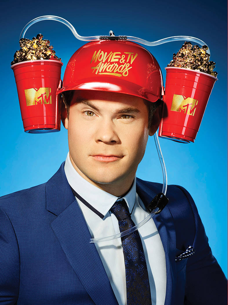"Adam Devine hosts the ""MTV Movie & TV Awards."" (MTV)"