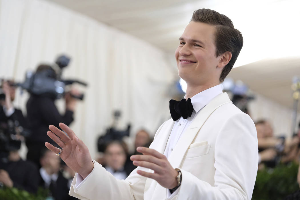 Ansel Elgort attends The Metropolitan Museum of Art's Costume Institute benefit gala celebrating the opening of the Rei Kawakubo/Comme des Garçons: Art of the In-Between exhibition on Monday, May ...