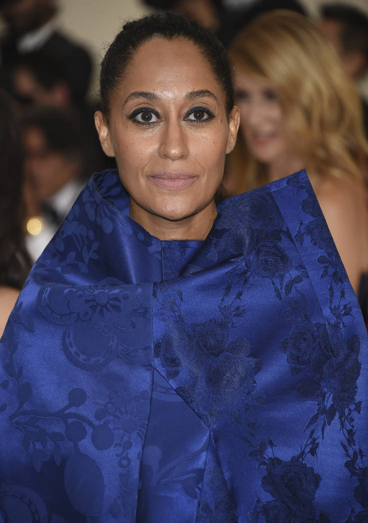 Tracee Ellis Ross attends The Metropolitan Museum of Art's Costume Institute benefit gala celebrating the opening of the Rei Kawakubo/Comme des Garçons: Art of the In-Between exhibition on Monday ...