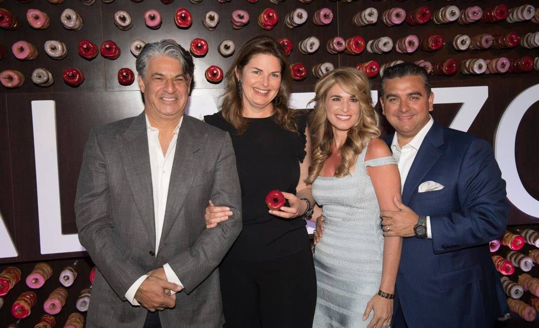 """Sweet Escape: An Evening of Buddy, Beignets, Bonbons & Booze"" hosted by Buddy Valastro, right, at The Aquatic Club at The Palazzo for Vegas Uncork'd on Saturday, April 29, 2017, in Las Ve ..."