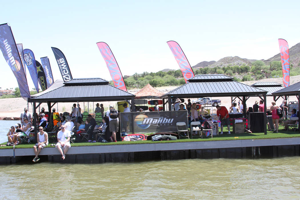 Spectators watch the 2016 Malibu Rider Experience, which took place from May 13-15, 2016, at Lake Las Vegas. (Boulder Boats)
