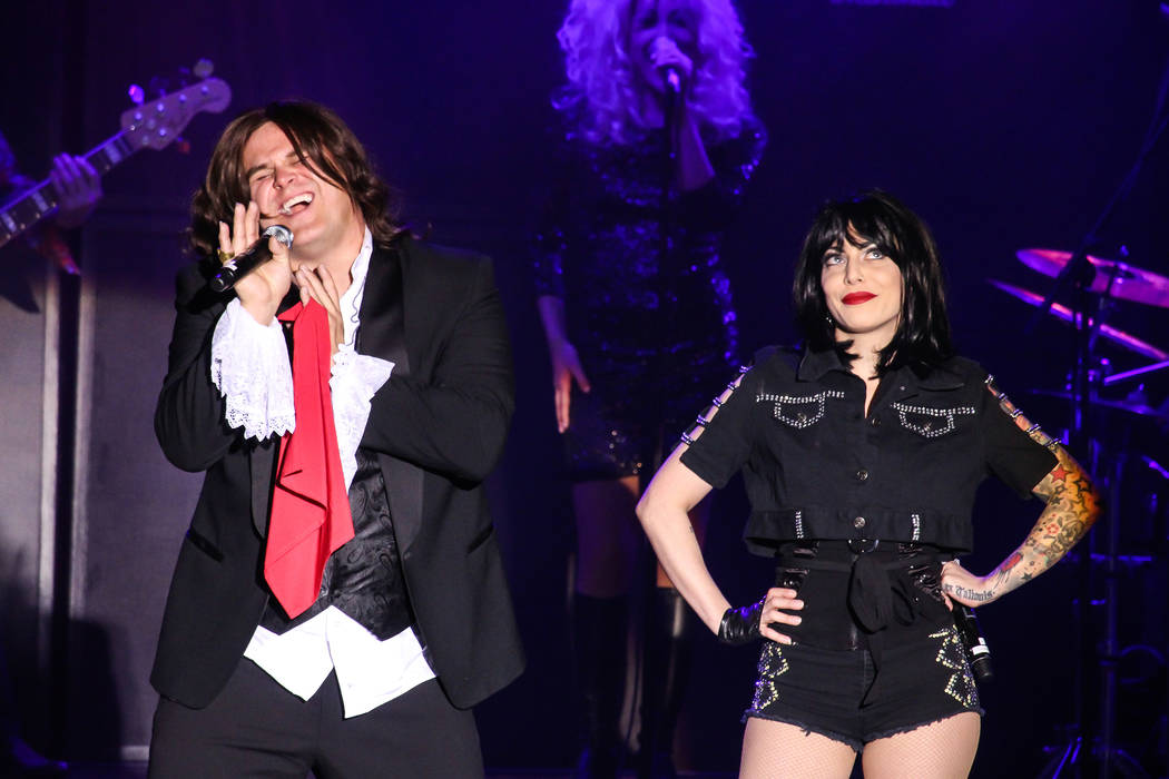 "Jared Dalley and Cassie Stone re-create Meat Loaf's rock opera in ""World's Greatest Rock Show"" (courtesy)"