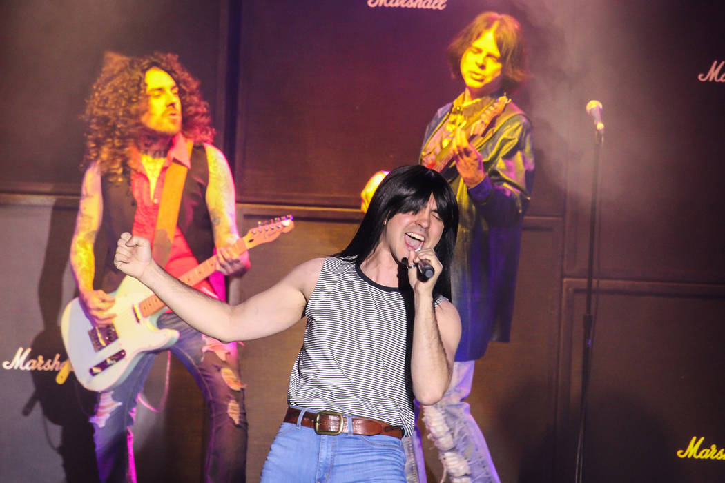 "Former 'Rock of Ages' star Paul Johnson makes like Journey's Steve Perry in ""World's Greatest Rock Show"" (courtesy)"