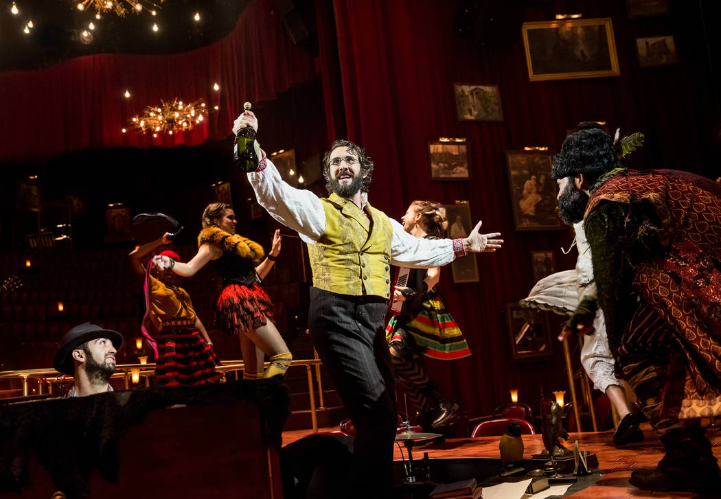 "Josh Groban performs in ""Natasha, Pierre & the Great Comet of 1812"" in New York. The musical that dramatizes a 70-page melodrama at the center of Leo Tolstoy's ""War and Peace,"" earned 12 Tony  ..."