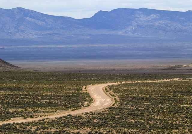 A road is seen Wednesday, May 20, 2015, in Coal Valley at the newly designated Basin and Range National Monument. (Jeff Scheid/Las Vegas Review-Journal)