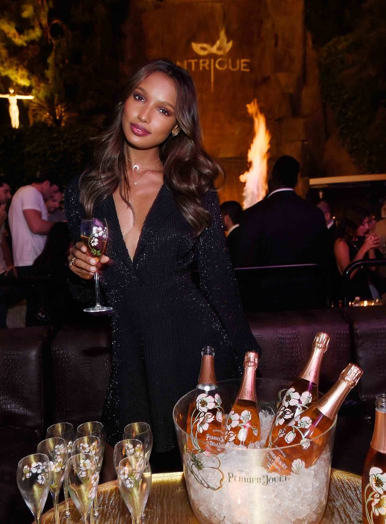 LAS VEGAS, NV - APRIL 28:  Model Jasmine Tookes celebrates Intrigue Nightclub's One-Year Anniversary party hosted by Perrier-Jouet at Wynn Las Vegas on April 28, 2017 in Las Vegas, Nevada.  (Photo ...