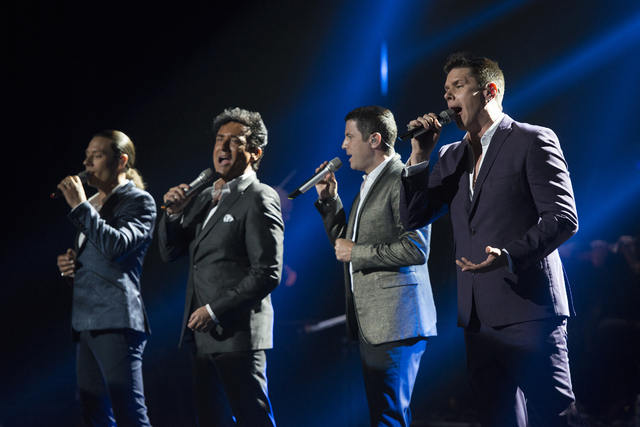 Pop opera quartet Il Divo is the new extended-engagement headliner at Venetian Theater. (Carl Scheffel/MSG Photos)