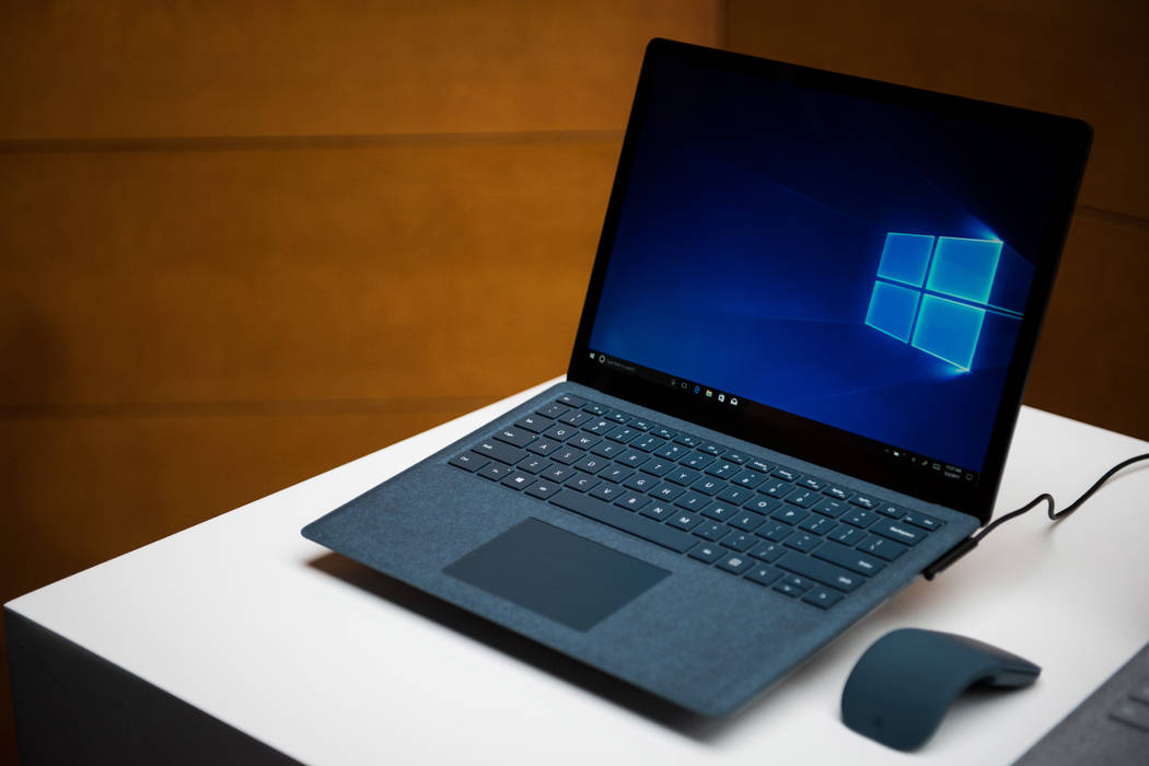 microsoft unveils  surface laptop featuring windows   las vegas review journal