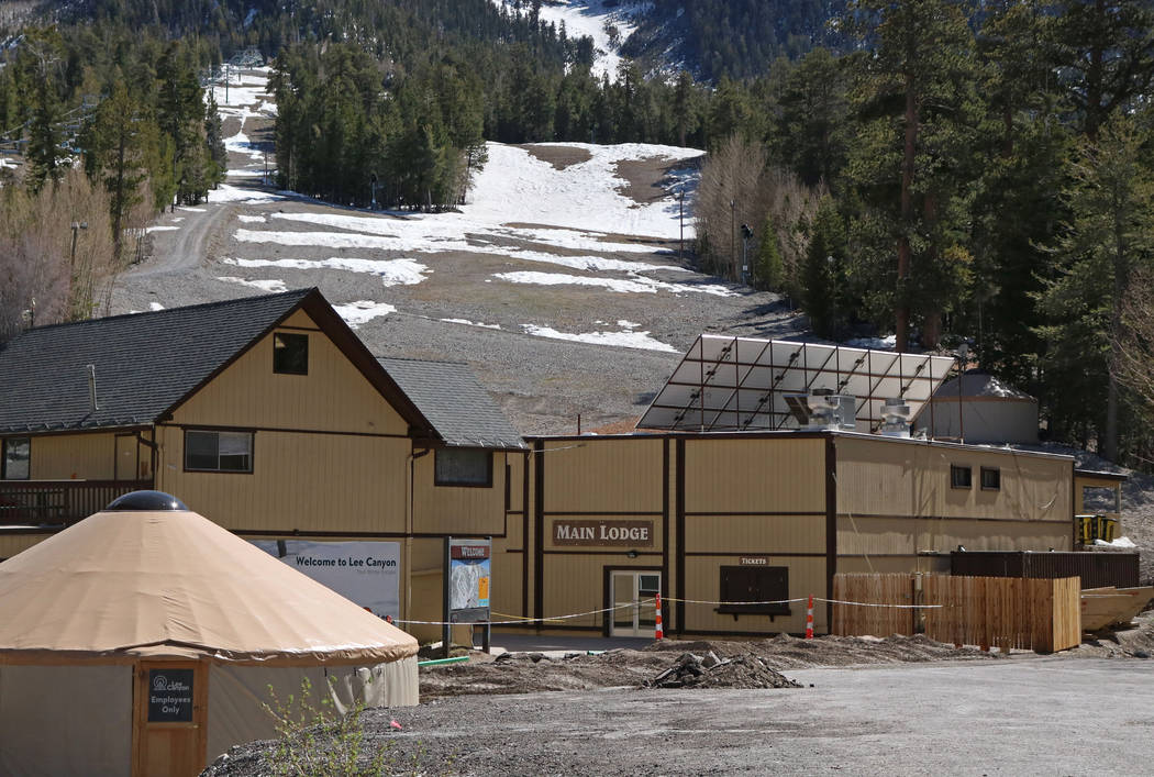 The lodge buildings at Lee Canyon ski resort undergoing renovations, Tuesday, May 2, 2017.The ski resort is ready to modernize and expand into a year-round playground. Gabriella Benavidez Las Vega ...