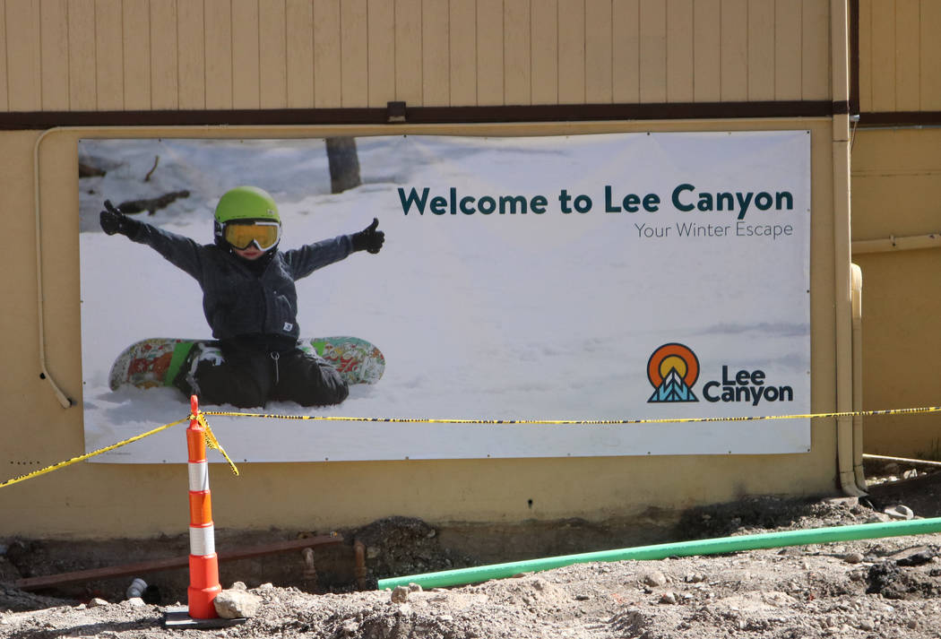 The lodge buildings at Lee Canyon ski resort undergoing renovations, Tuesday, May 2, 2017. The ski resort is ready to modernize and expand into a year-round playground. Gabriella Benavidez Las Veg ...