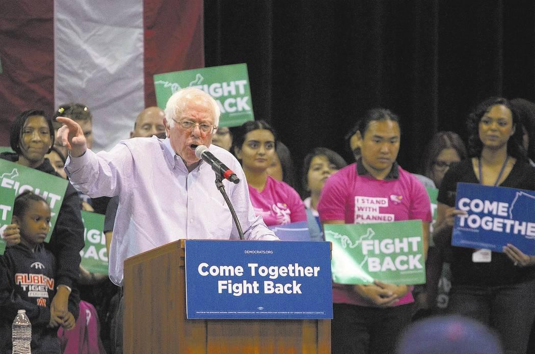 Sen. Bernie Sanders. Bridget Bennett Las Vegas Review-Journal @bridgetkbennett