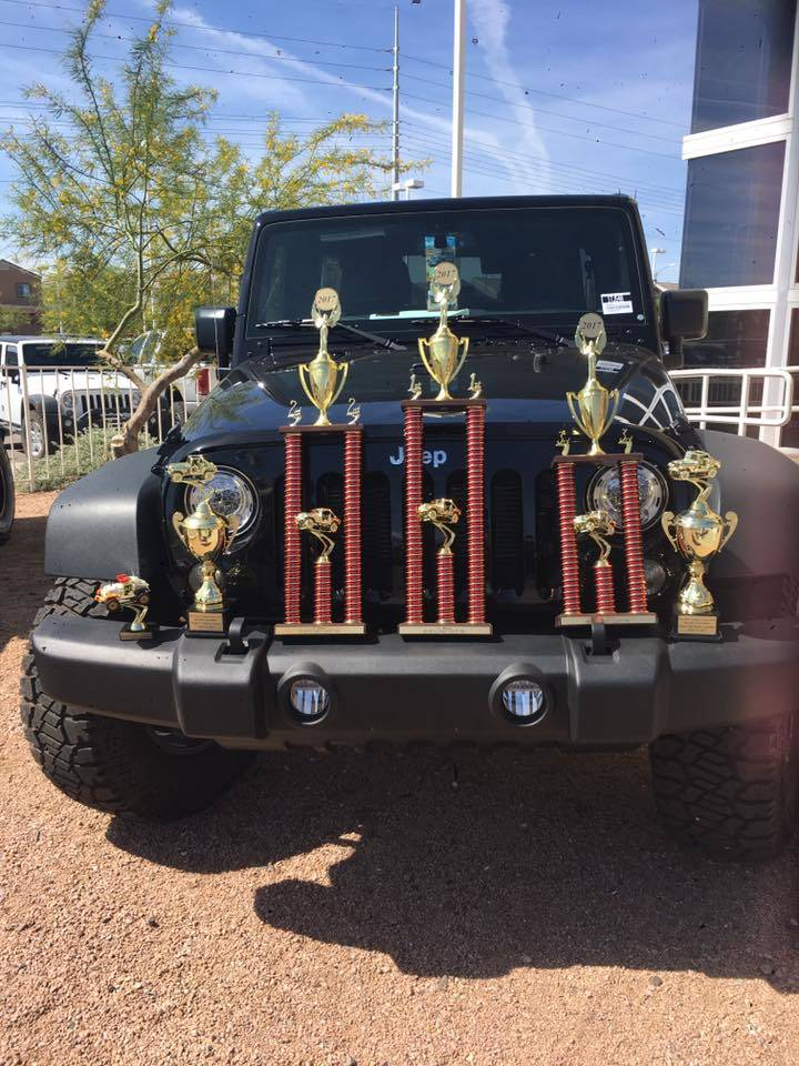 Chapman Automotive Jeff Jorgensen took home the first-place trophy at the 2017 Big Bad Jeep Show, held April 22 at Chapman Warm Springs, 1100 W. Warm Springs Road in Hender