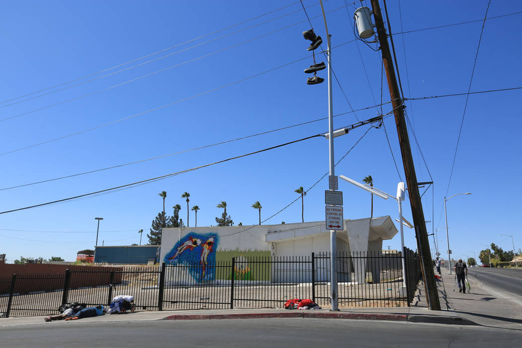 A building on the southeast corner of Main Street and Foremaster Lane in Las Vegas, on Friday, April 28, 2017, is part of the land the city of Las Vegas is buying on the south side of Foremaster L ...