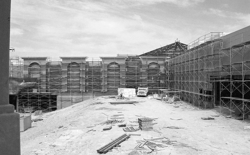 A series of construction photos of the Forum Shops at Caesars Palace in 1991. Caesars Palace / Forum Shops